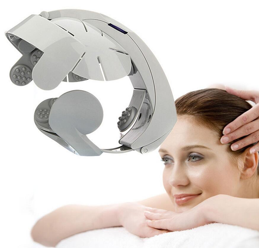 Electric head massage device multifunctional vibration massage machine acupuncture points scalp head massager electric head массажеры мозг массаж акупунктуры серый моды расслабиться