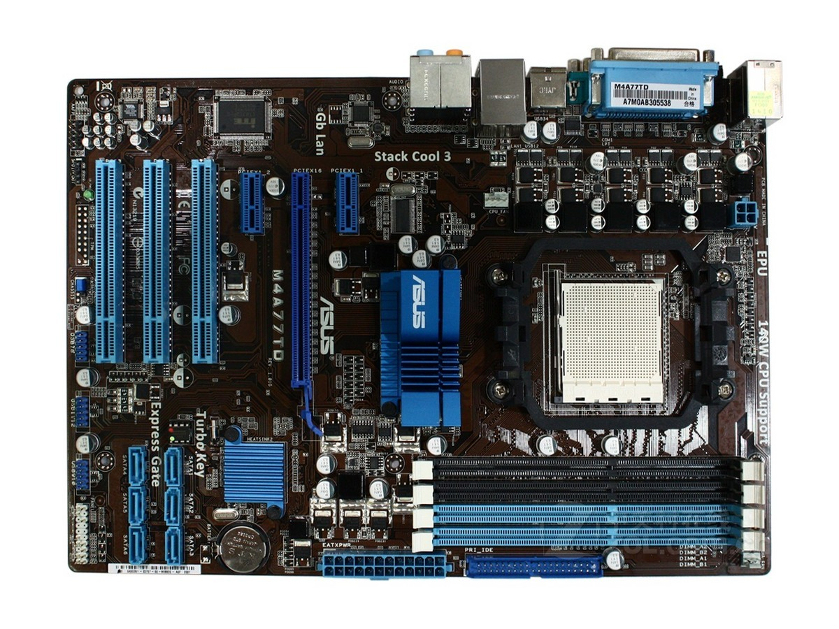 Used,For Asus M4A77TD Original  Desktop Motherboard 770 Socket AM3 DDR3 16GB SATA II USB2.0 original used desktop motherboard for asus p5ql pro p43 support lga7756 ddr2 support 16g 6 sata ii usb2 0 atx