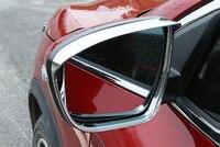 Car Rearview Mirror Covers Rain Eyebrow Frame Exterior Auto Accessories For Nissan Qashqai J11 Rain Gear 2014 2015 2019 2Pcs
