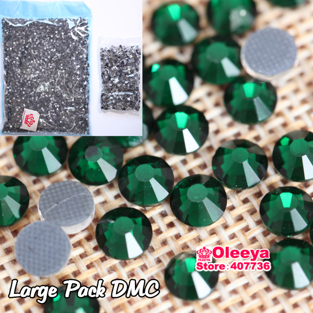 Emerald Hot FIx Rhinestones Wholesale Large Packing Glass Flatback DMC Hotfix  Rhinestones For Garments Accessories Iron On Y2769 b334aba66717