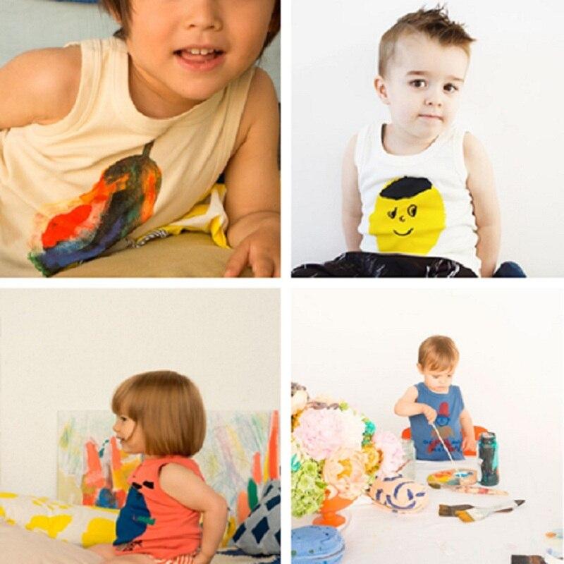 2017, Новая мода Дети футболки лайкра прочесали милые bobo choses футболки с принтом для мальчиков и девочек Летняя футболка с коротким рукавом
