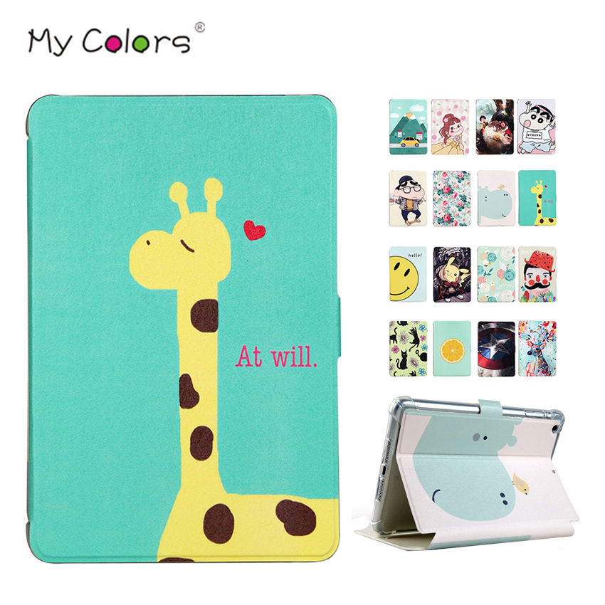 PU Leather Case Cover For iPad mini 2 3 Slim Print Protective Stand Skin For Apple iPad 7.9 inch mini2 Mini3 Smart Tablet Sleeve luxury slim with magnetic flip pu leather stand case for apple new ipad 9 7 2017 release tablet protective smart painting cover