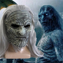 Movie Game of Thrones Night's King Mask Cosplay Costumes Props Latex The Others Wig Mask Halloween Terror Zombie Party Headgear pirate mcsnottbeard in the zombie terror rampage
