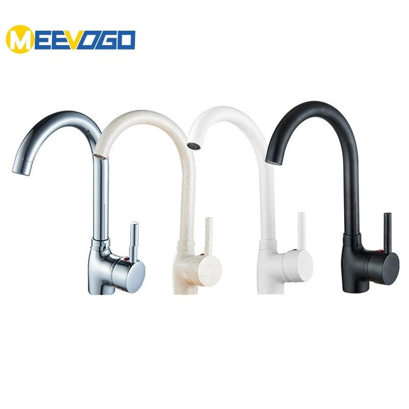 MEEVOGO Brass 4 Colors Kitchen Faucets Sink Tap Bathroom