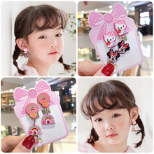 2019 New Cartoon Fruit Animal Lovely Baby Ear Clip Girls Hairpins Mickey Kitty Cat Clips Kids Earring for