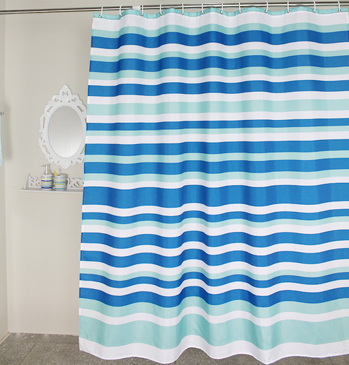 Mediterranean Sea Style Horizontal Stripes Blue Shower Curtain Polyester  Waterproof Bathroom Partition Shower Curtain 180x180cm Compare Prices on Blue Stripe Shower Curtain  Online Shopping Buy  . Red And Blue Shower Curtain. Home Design Ideas