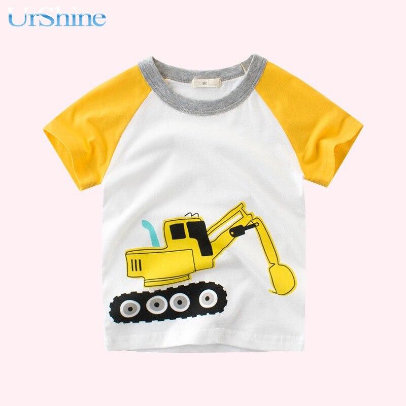 T-shirt For Girl Short Sleeve Little Girl Clothes Kids Summer Boy Tshirt Cotton Cartoon White Top Spring 2018 Camisetas