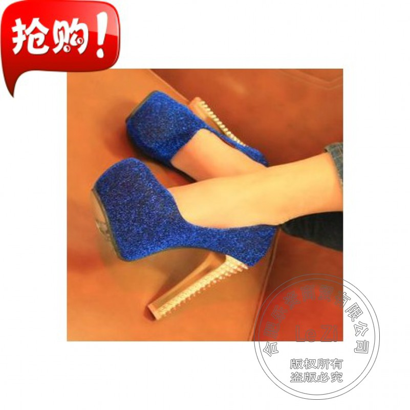 Office Platform Extreme High Heels Club Sequined Cloth Metal Heel Dress Fashion Wedding Stilletos Shoes For