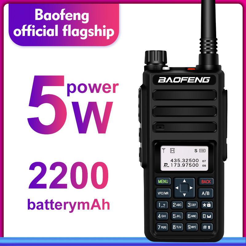 Baofeng DM-1801 Dual Band Dual Time Slot DMR Digital/Analog 2Way Radio 136-174/400-470MHz 1024 Channels Ham Walkie Talkie DMR