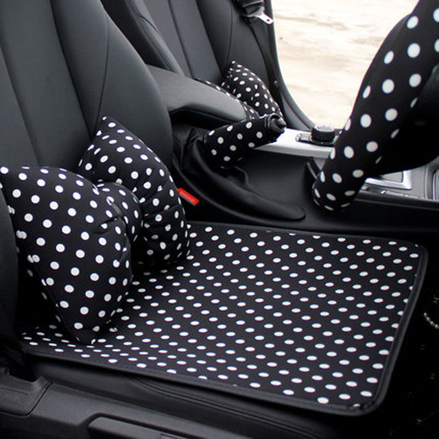 Cut Dot Car Seat Cushion Leather Auto Front Back Seats Covers For Interior Accessories