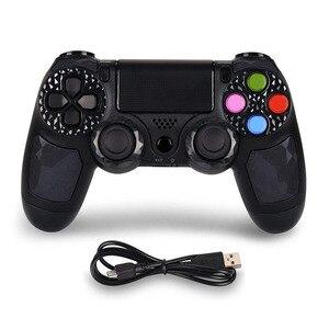 Image 3 - PS4 için Kontrol kolu Kablosuz Bluetooth Oyun joypad için için Çift Şok Titreşim Joystick Gamepad için PlayStation 4