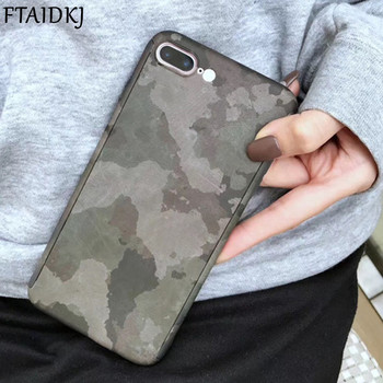 Fashion Army Camouflage Camo 360 Degree Full Body Protection Phone Case For iPhone XS Max XR X 6 6S 7 8 Plus 5 5S SE Coque Cover