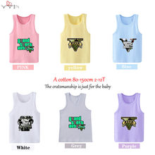 9c4f4b3ef35e7 Kids GTA 5 print T Shirts boys sleeveless 2T-12T Premium Round Neck t  Shirts for girl vest