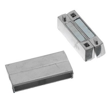 10 Sets Magnetic Clasps Rectangle Silver Tone Jewelry Making Findings 37x19mm