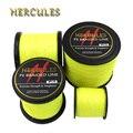 Леска Hercules  сверхмощная флуоресцентная желтая рыболовная леска  8 нитей  100 м  300 м  500 м  1000 м  1500 м  2000 м  10-200 фунтов