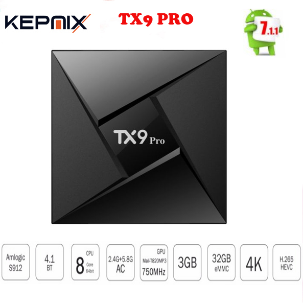 TX9 Pro TV Box Amlogic S912 Octa-core CPU Android 7.1 OS 3GB /32G Bluetooth 4.1 Android tv box set top box VS TX92(China)