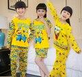 2016 primavera Verano minion Babys Niñas Ropa de Dormir Ropa de Los Niños Ropa de Niños Ropa Interior Pijamas minion niños conjuntos de pijamas