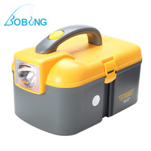 Bobing S/M/L Sizes Multifunctional LED Lighting Eco-Friendly PP Fishing Tool Cabinet Storage Boxes