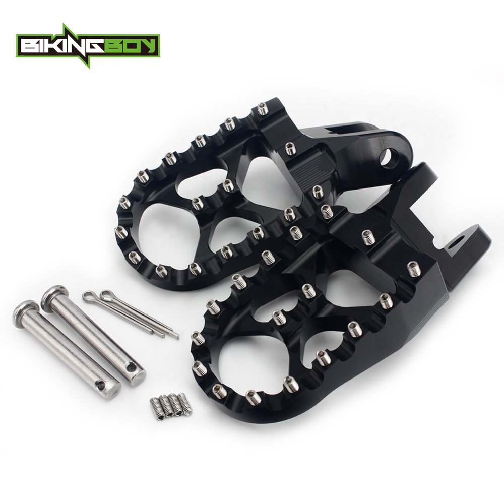 BIKINGBOY Foot Pegs Rests Footpegs for <font><b>Honda</b></font> CRF1000L / DTC Africa Twin 17 CR 80 85 R RB Expert <font><b>XR</b></font> 250 <font><b>350</b></font> 400 600 650 R XR650L image