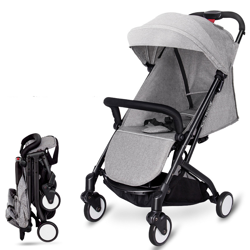 High Quality Baby Travel Stroller Trolley Car Folding Baby Pram Lightweight Baby Carriage With 5 Accessories folding baby stroller portable pushchair for travel system 5 8kg lightweight pram newborn baby carriage