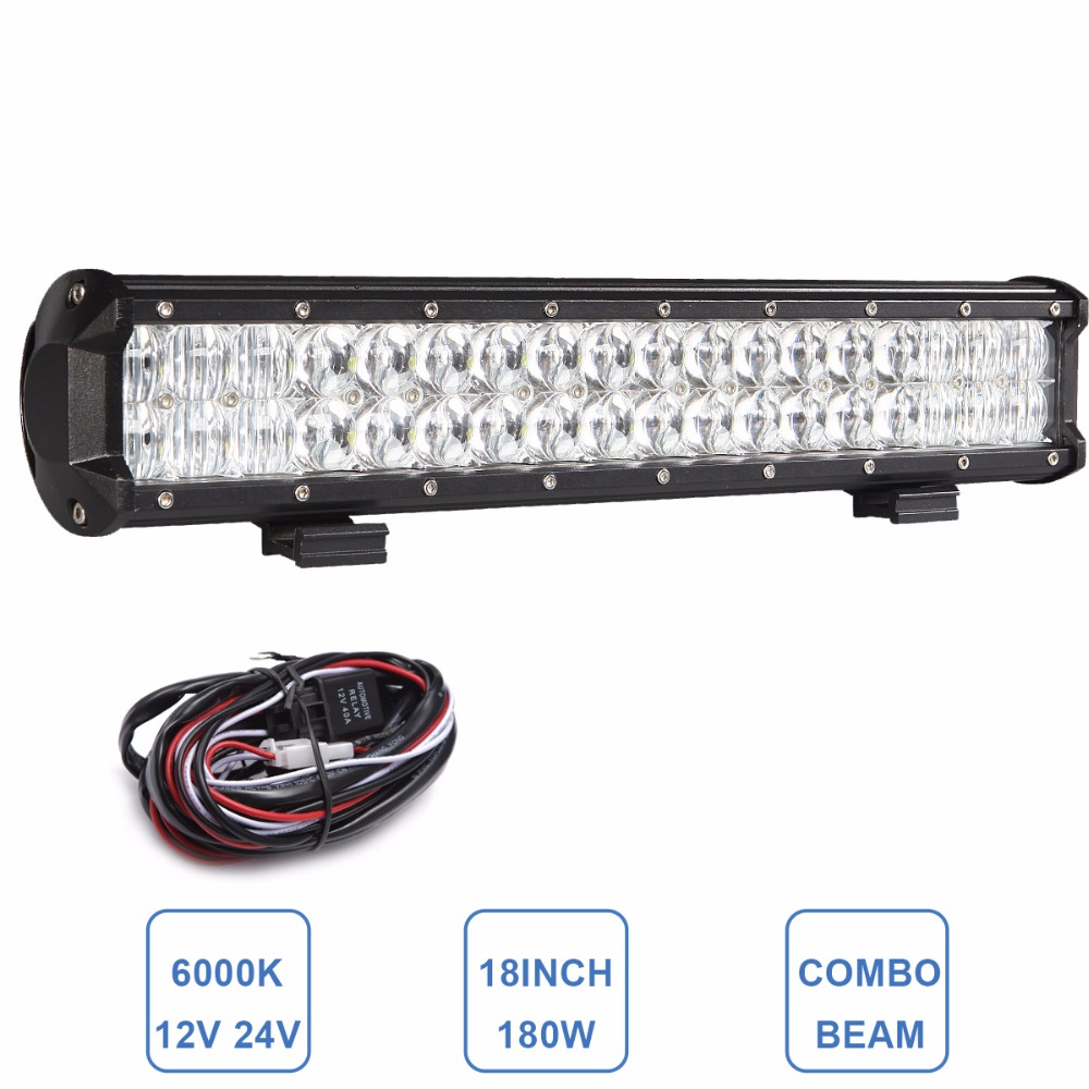 5D 180W Offroad LED Light Bar Combo Car Truck Trailer ATV UTE AWD 4X4 Wagon Pickup Camper Boat 12V 24V Driving Headlight 60w led light bar 8 offroad 12v 24v car truck 4wd suv atv 4x4 auto trailer wagon ute awd boat spot driving fog lamp headlight