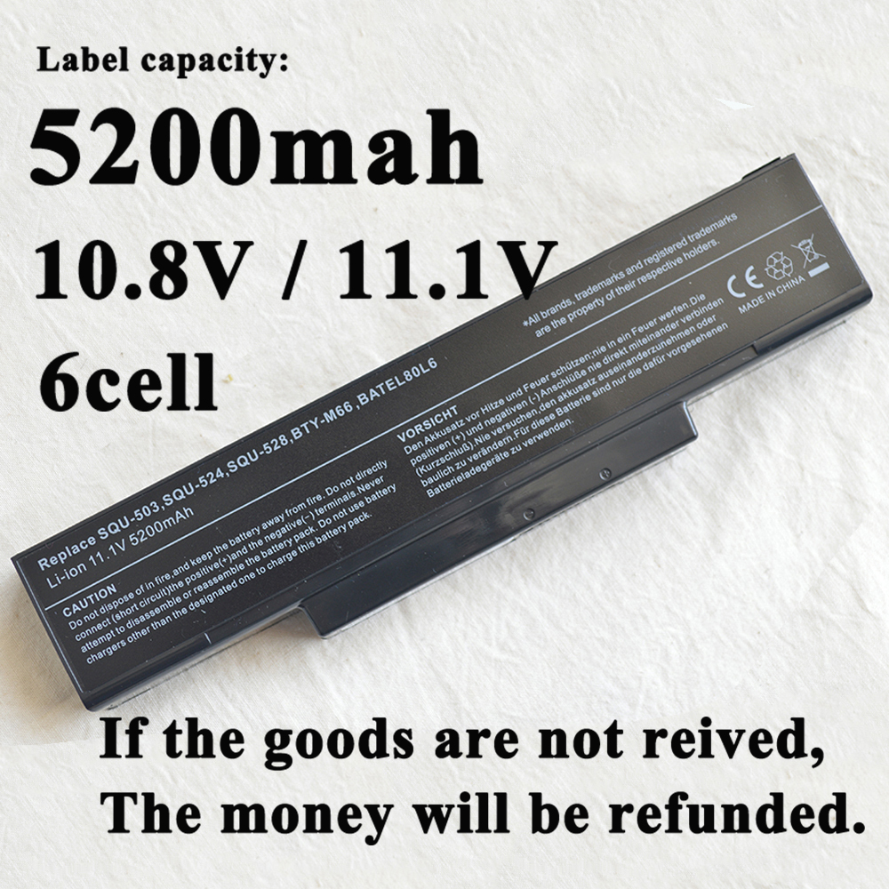 Laptop Battery For LG/Asus ED500 M740BAT-6 M660BAT-6 M660NBAT-6 SQU-524 SQU-526 SQU-528 SQU-529 SQU-718 BTY-M66 BTY-M67 BTY-M68