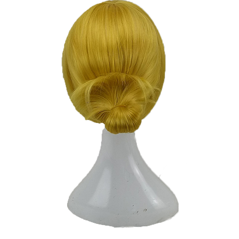 HAIRJOY  Synthetic Hair Tinker Bell Cosplay Wig with Detachable Bun Blonde Brown  Heat Resistant Costume Wigs 61
