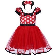 2pcs ชุดเด็กทารกเด็กผู้หญิง Minnie เครื่องแต่งกายแฟนซี Tutu ชุดหู Headband Party ชุด Micky Mouse คอสเพลย์ Polka Dot ชุด 12M 5Y