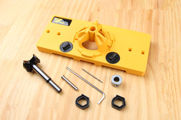 все цены на ALLSOME 35mm Cup Style Hinge Drilling Guide Woodworking Hole Locator Jig Drill Guide For Kreg Carpenter Woodworking DIY Tools онлайн