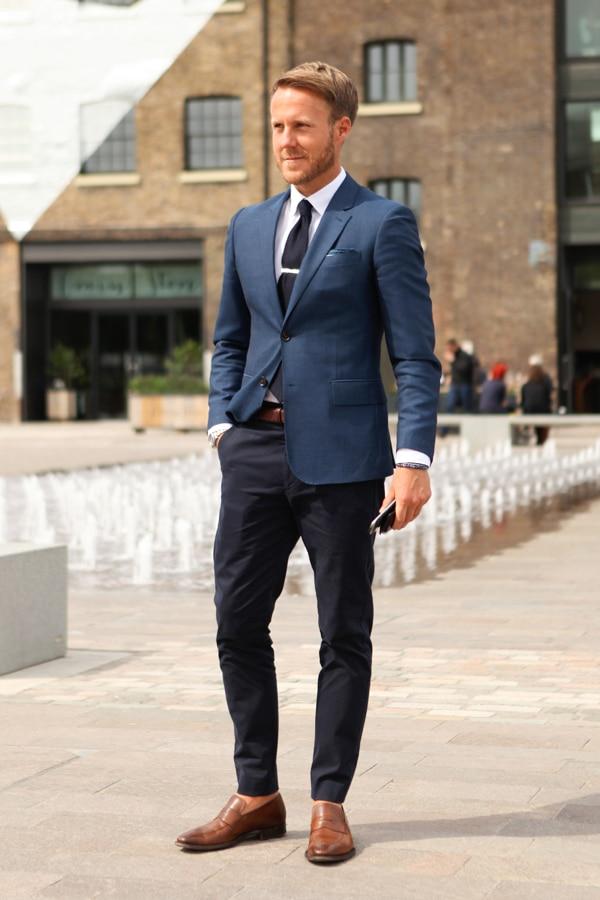 Latest Coat Pant Designs Navy Blue Casual Custom Tuxedo Slim Fit Beach Blazer Men Suits 2 Pieces