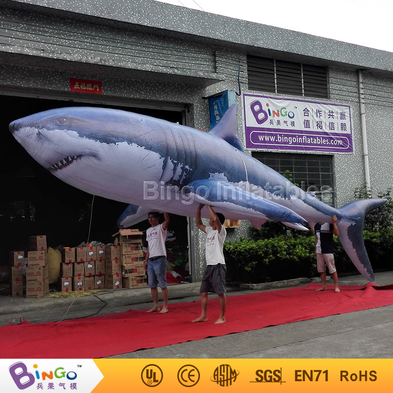 inflatable model toy 8m ocean sea series inflatable shark with full print for party commercial sea inflatable blue water slide with pool and arch for kids