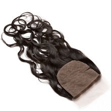 Silk Base Closure Malaysia Water Wave 100 Human Hair With Baby Hair Hidden Knots Closure Brown Lace Dolago Virgin Hair cheap 1 Piece Only Hand Tied Malaysia Hair All Colors French Lace Medium Brown 120 Pure Color