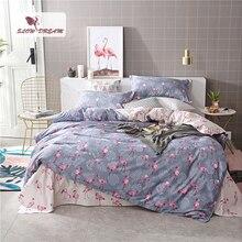 SlowDream покрывало Фламинго нижнее бельё для девочек одеяла простыня пододеяльник набор для двуспальной кровати Twin queen King постельное белье для взрослых
