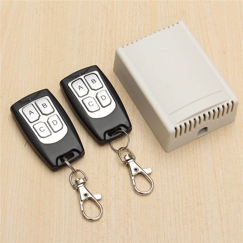 HOT DC 12V 10A 4CH RF Wireless Remote Control Relay Switch Transmitter with 2 Receiver Compatible with 2262 2260 1527 12v dc 4ch relay 1 receiver