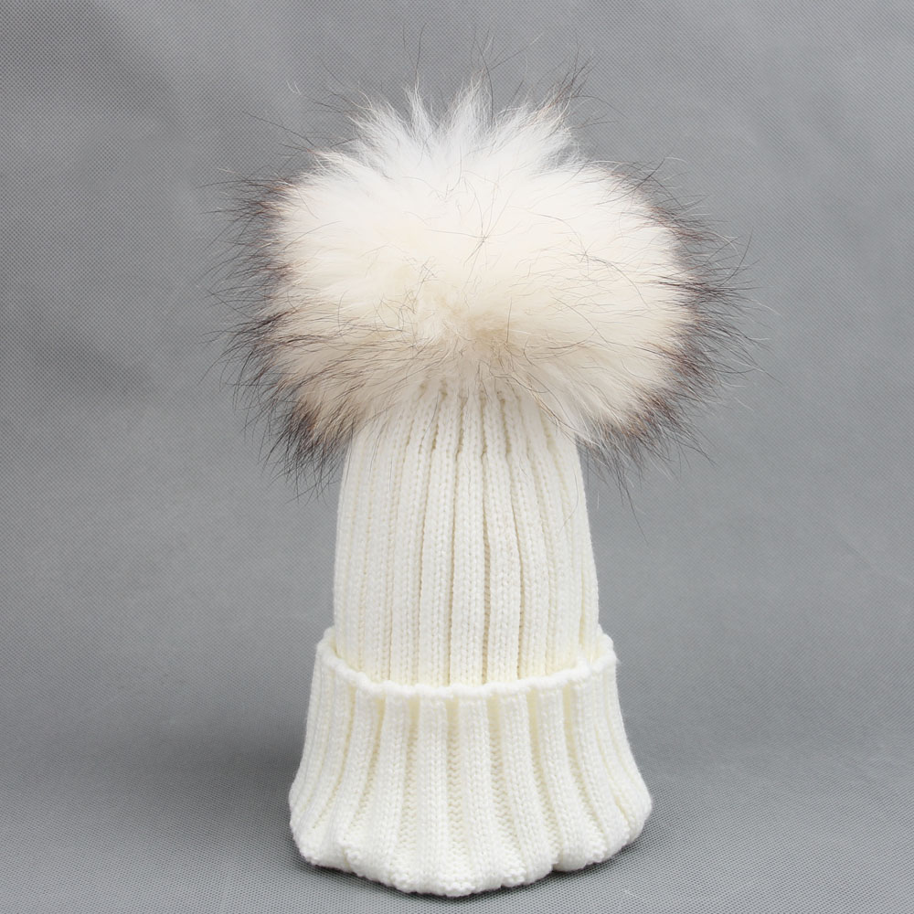 women real racoon fur dying pom pom hat for girl 's knitted winter woolen hat brand new lady caps roomble люстра racoon white
