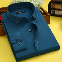 High Quality 100% Cotton Dress Shirt Formal Long Sleeve Casual Slim Fit White Shirts 2018 Korea Style Autumn Winter Big Size