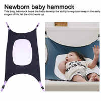 Newborn Baby Hammock Baby Crib Baby Sleeping Bed Supportive Breathable Mesh Infant Hammock  Baby Bed Detachable Portable Folding