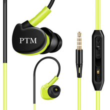 Original PTM S800 Sport Earphone Super Bass Headphones Sweat Proof Running Headset With Mic font b