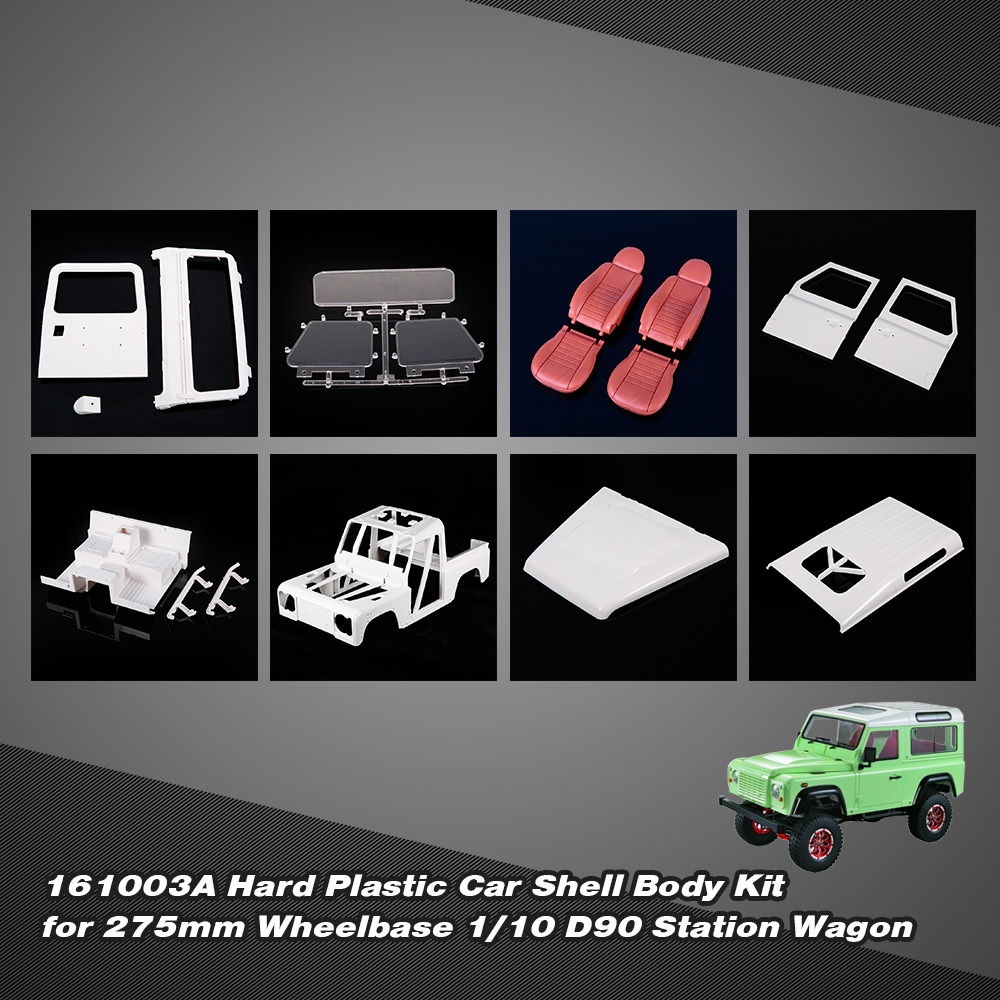 GoolRC 161003A Hard Plastic Car Shell Body DIY Kit for 275mm Wheelbase 1/10 D90 Crusader Station Wagon RC Crawler high tech and fashion electric product shell plastic mold