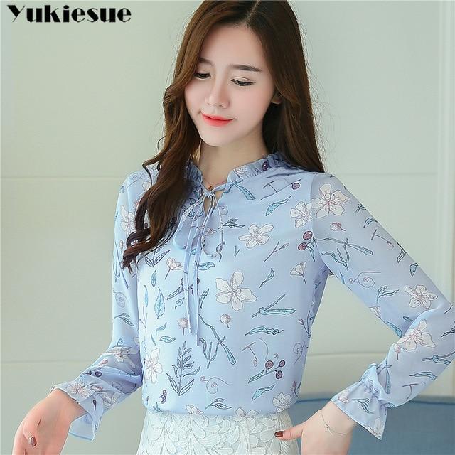 women blouses shirts woman blusas tops 2019 summer office work long sleeve ruffles elegant shirt blouse womens Plus size white 6