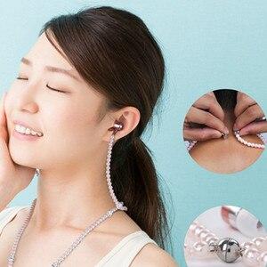 Image 5 - 3.5mm in ear com fio fone de ouvido moda fones de ouvido com microfone embutido para smartphones com presente livre 300 peças pérolas juntos fash