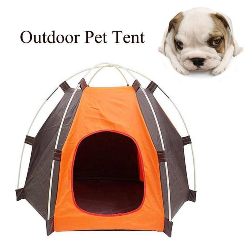 في الهواء الطلق التخييم الحيوانات الأليفة خيمة سرير للحيوانات الأليفة المحمولة داخلي للطي التخييم كلب القط خيمة منزلية المأوى واقية من المطر واقية من الشمس قابل للغسل