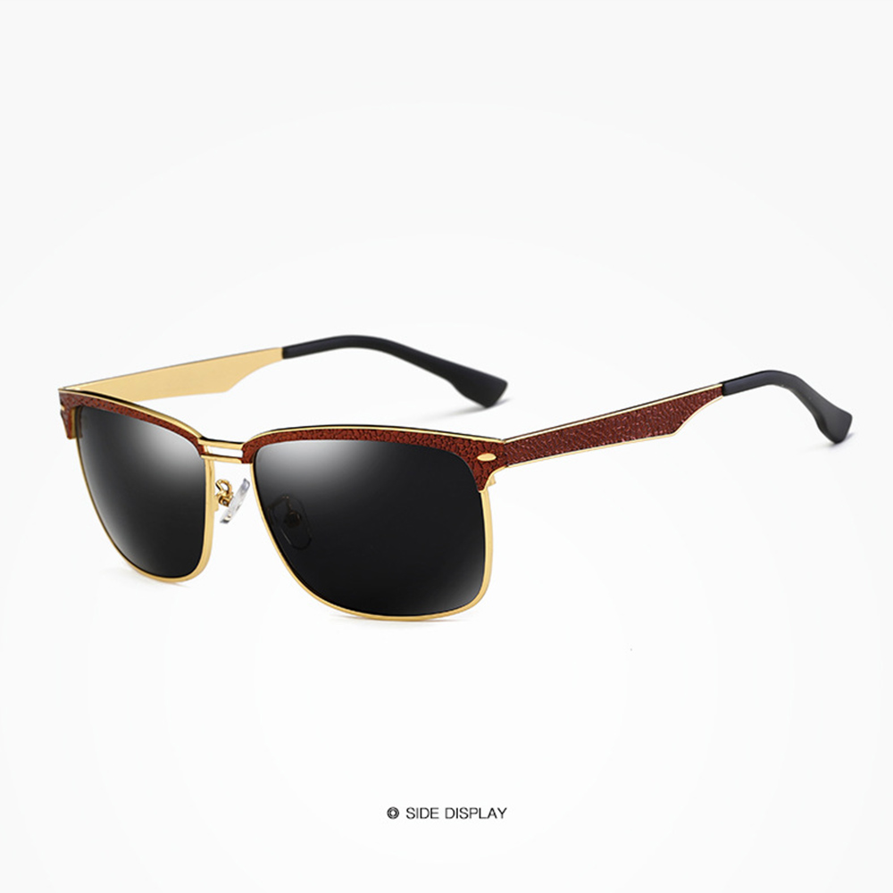 Alloy Cool Men Eyebrow Red Grey Frame Cool Men Polarized Sunglasses Custom Made Myopia Minus Prescription Polarized Lens 1 To 6 in Men 39 s Sunglasses from Apparel Accessories