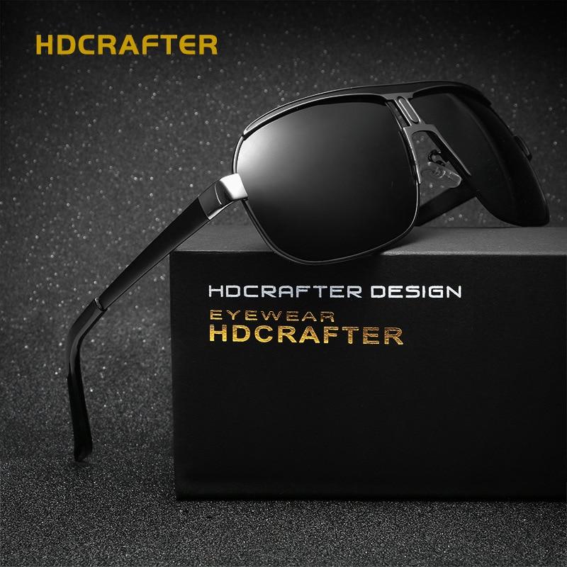 HDCRAFTER Cool Male oculos Polarized Sunglasses Men Luxury Brand Vintage Sun Glasses 2017 Fashion Sunglass gafas