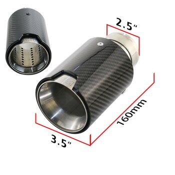 JZZ Universal คุณภาพสูงแกะสลัก /// M ตรงเคล็ดลับท่อไอเสียคาร์บอนไฟเบอร์ไอเสียท่อ 79 มม./89 มม./ 102 มม