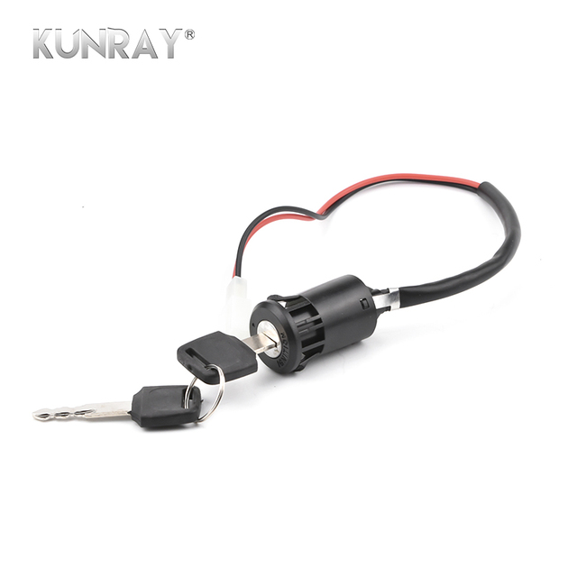 KUNRAY Universal Motorcycle Motorbike Ignition Switch Key Power Lock For Electric Bicycle Electric Scooter Motor Two Wiring Part