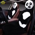 Capas de piel universal en el asiento de piel de oveja natural de modelado de dibujos animados cubiertas de coche auto accesorios interiores del coche del automóvil cubre