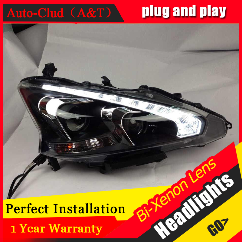 Auto Clud Car Styling for Nissan Teana LED Headlight Altima LED Headlight Lens Double Beam H7 HID Xenon bi xenon lens стоимость