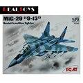 "Icm modelo 72141 1/72 MiG-29 "" 9 - 13 "" "" fulcro C "", Soviética Frontline lutador kit modelo de plástico"