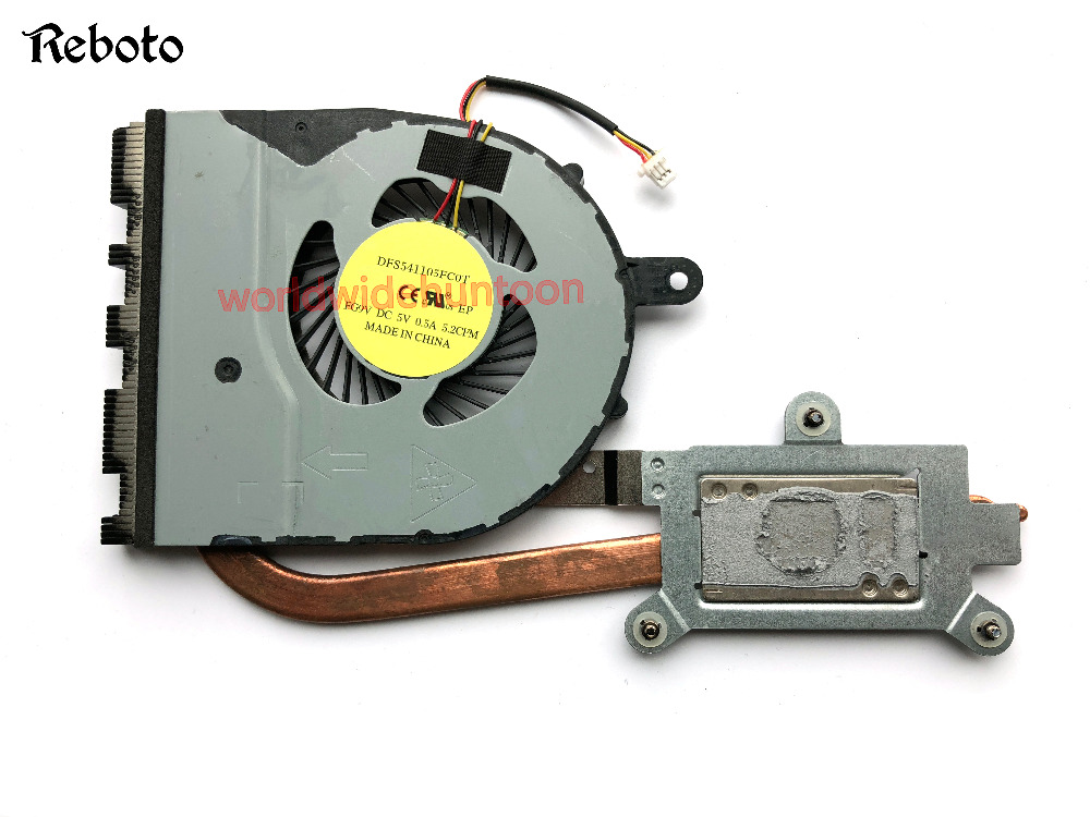High Quality Laptop CPU Cooling Fan With Heat Sink For Dell 15-5559 PN CN-02FW2C 02FW2C DFS541105FC0T 5V 0.5A 100% works new fn0570 a1084p1el fan for dell inspiron 7460 7560 cpu cooling fan vostro 5468 5568 cpu cooling fan cn 0w0j85 cn 02x1vp